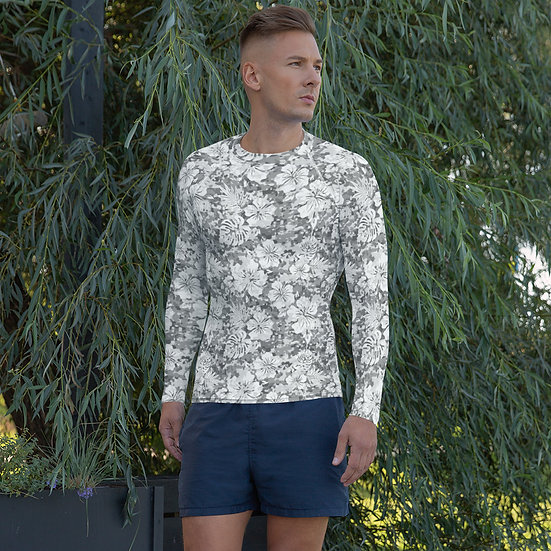 Snow Camouflage Men's Rash Guard