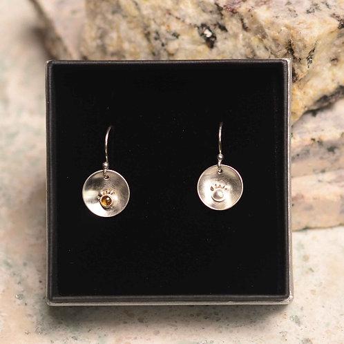 Riverbed Earrings- Citrine