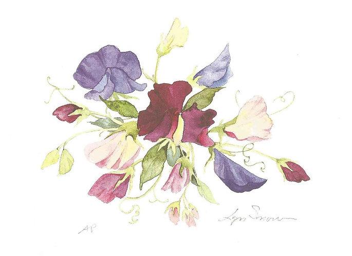 Mini Sweet Pea II - Watercolor