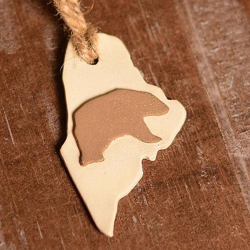 Maine Bear Ornament - Pottery
