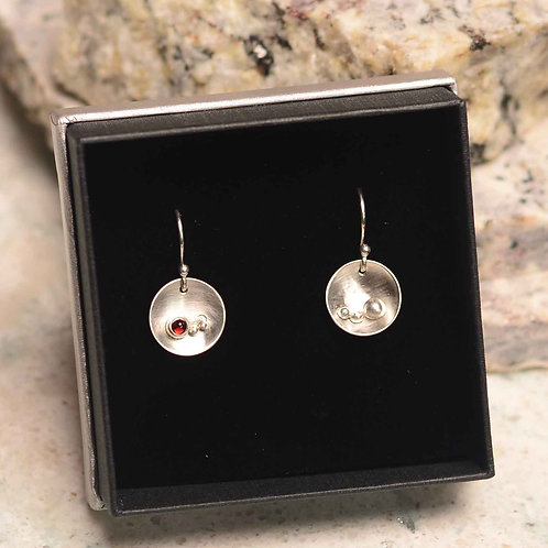 Riverbed Earrings- Garnet