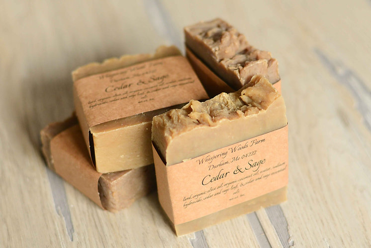Cedar & Sage Bar Soap (Pack of 2)