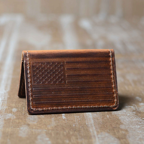 The Kennebunk Minimalist Wallet (American Flag)