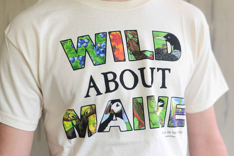 """Adult """"Wild About Maine"""" T-Shirt"""