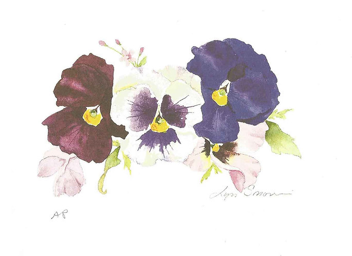 Mini Pansy II - Watercolor