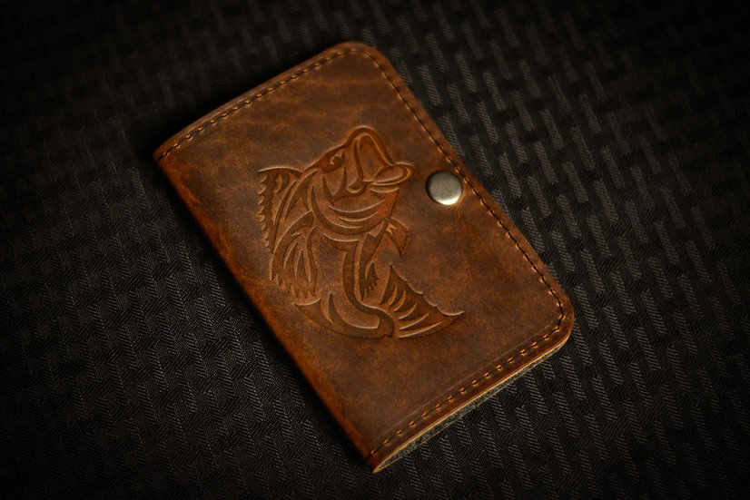 The Allagash Fly Wallet (American Bison Leather)