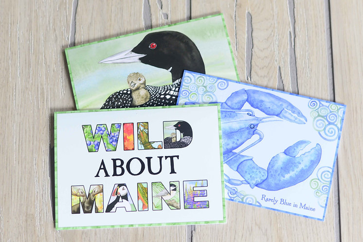 Maine Love Greeting Cards 6-Pack