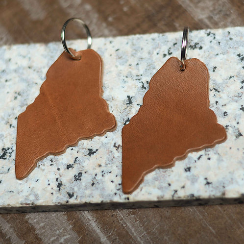Maine Key Fob Set of 2 - Leather