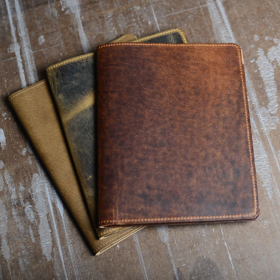 Custom Leather Padfolio with 8 Free Monogrammed Letters