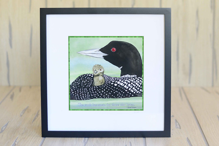 Loon Music Framed Print