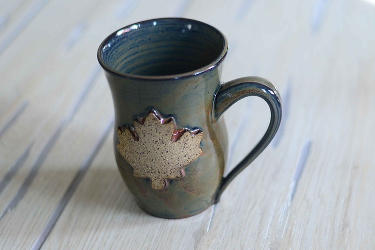 Ironstone Maple Leaf Mug