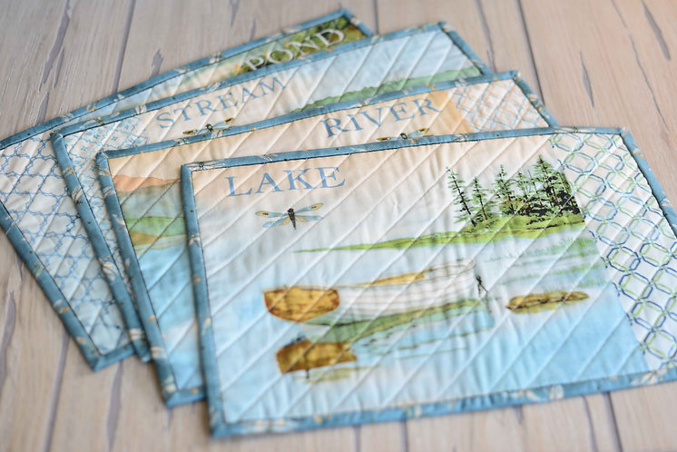 Maine Waterways Themed Placemats