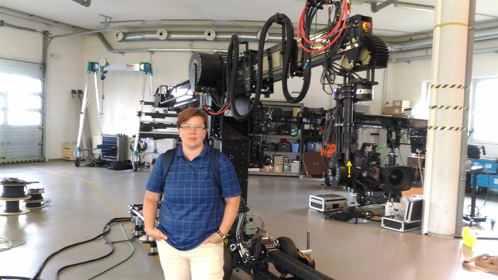 На заводе Technocrane