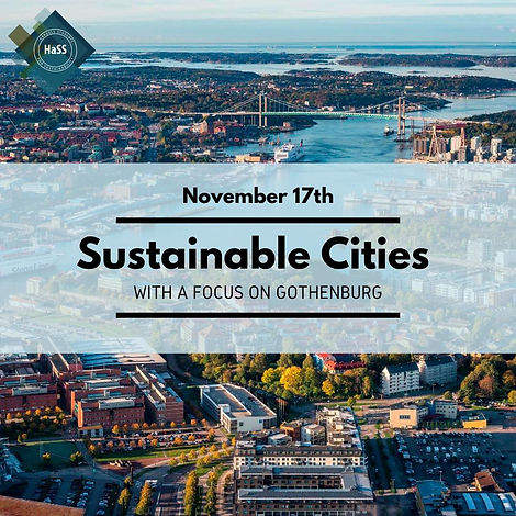November 17th: Sustainable Cities with a focus on Gothenburg