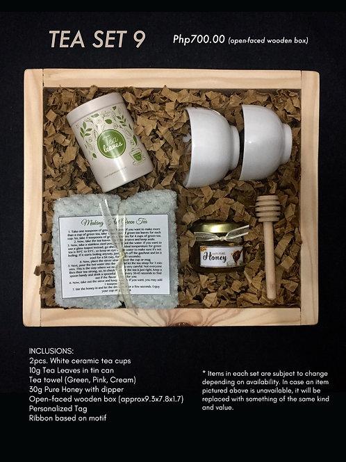 Tea set 9 (open-faced wooden box)