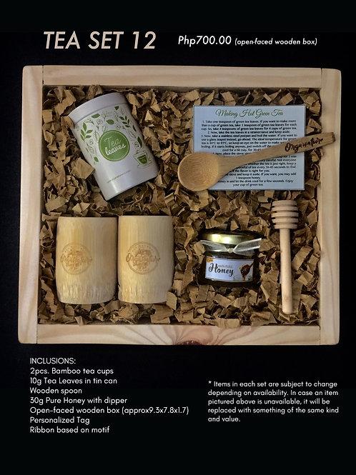 Tea set 12 (open-faced wooden box)