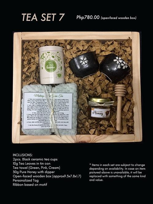 Tea set 7 (open-faced wooden box)