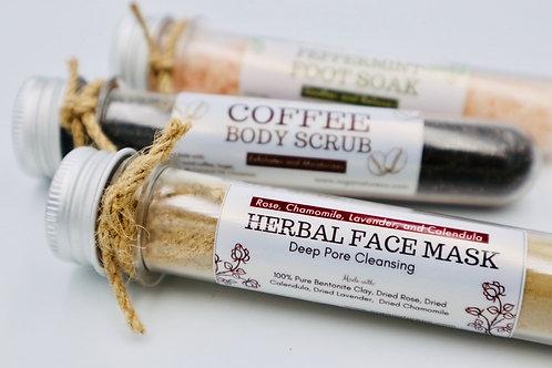 Herbal face mask in tube