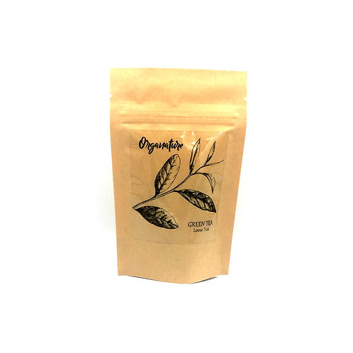 10g Loose green tea leaves in pouch