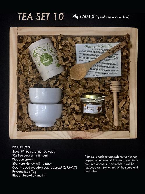 Tea set 10 (open-faced wooden box)