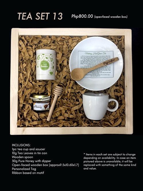 Tea set 13 (open-faced wooden box)