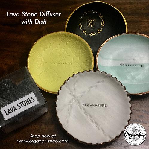 Lava Stone Diffuser with Dish
