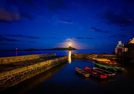 Dalkey Island Moonrise, Dalkey, Dublin