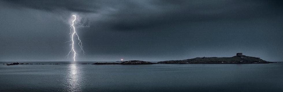 Lightning Storm Over Dalkey Island