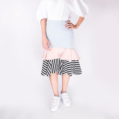 3 Layers Mermaid Fishtail Skirt