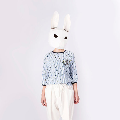 Blouse with Embroidered Bunny