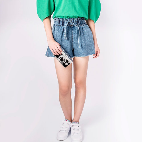 Demin High-Waisted Short