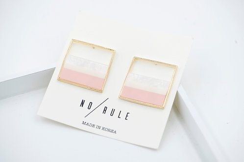 Korean Marbel Design Earring