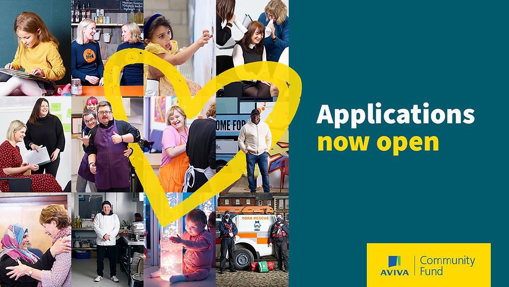 Aviva Community Fund poster - Applications now open