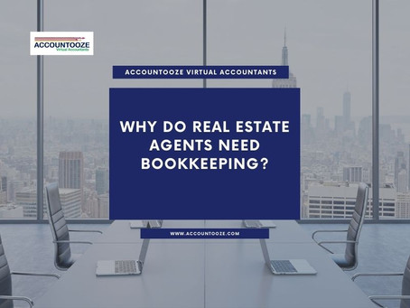 Why do real estate agents need bookkeeping?