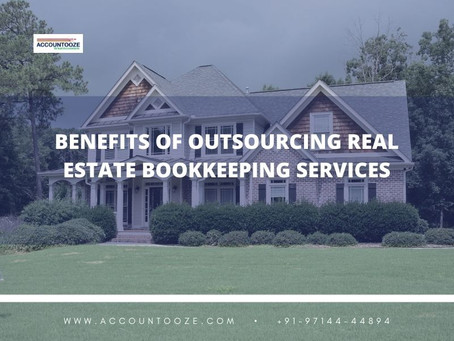 Benefits of outsourcing real estate bookkeeping services