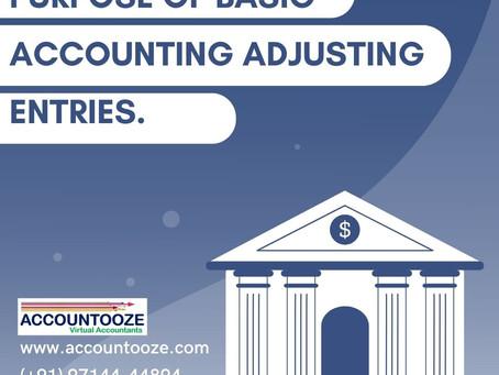 Purpose Of Basic Accounting Adjusting Entries.