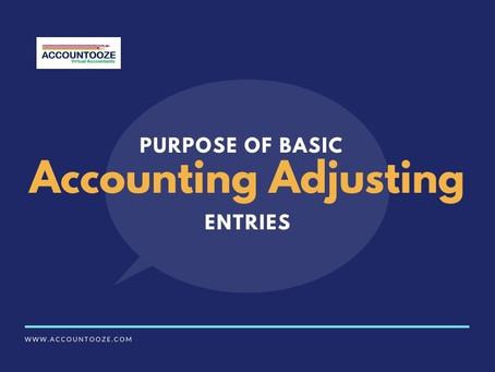 Purpose Of Basic Accounting Adjusting Entries