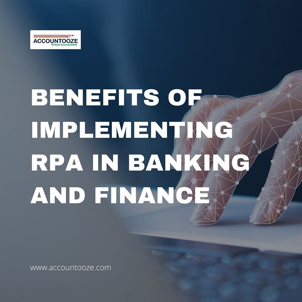 Benefits of implementing RPA in banking and finance