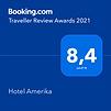 Top Bewertung bei Booking.com