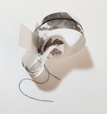 dessins - volumes, redonner corps, Célina Guiné, 2020