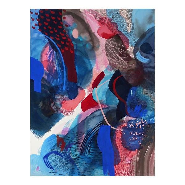 gorges - circulations, série peintures, Célina Guiné, 2020