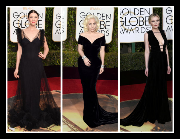 RED CARPET BLACK DRESSES GOLDEN GLOBE AWARDS 2016