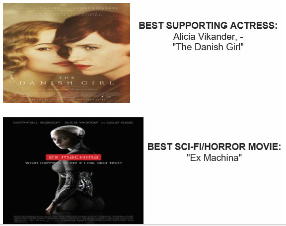 DANISH GIRL AND EX MICHINA  CRITICS CHOICE