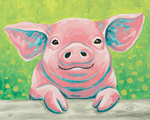 Poppy The Pig Canvas