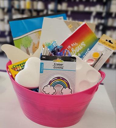 Little Artist Gift Basket