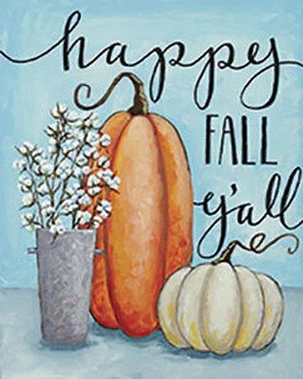 Happy Fall Ya'll Canvas
