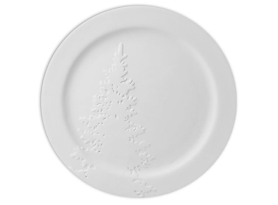Rimmed Christmas Tree Plate