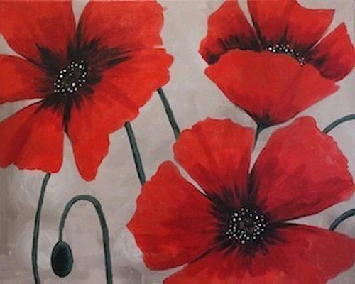 Poppy Trio Canvas