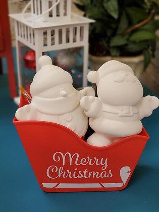 Large Santa & Snowman Gift Set
