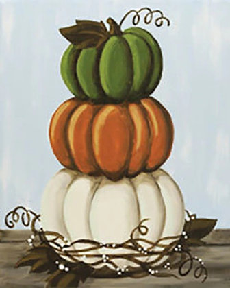 Stacked Pumpkins Canvas